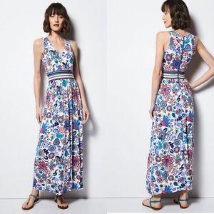 MILLY for DesigNation Print Empire Maxi Dress